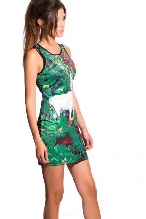 Mini vestido ajustado estampado animal