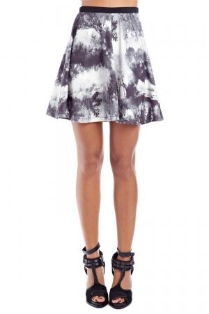Mini falda con estampado bosque
