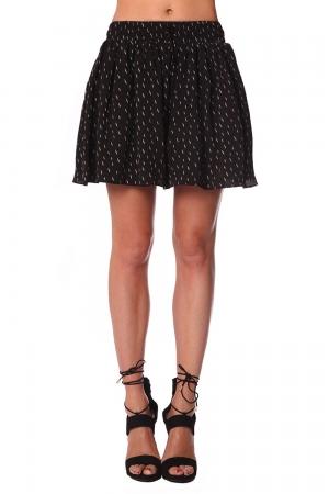 Falda pantalón corta con pliegues y estampado negro