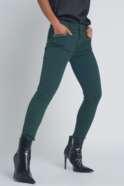 Green boyfriend Pants with sequin pocket detail