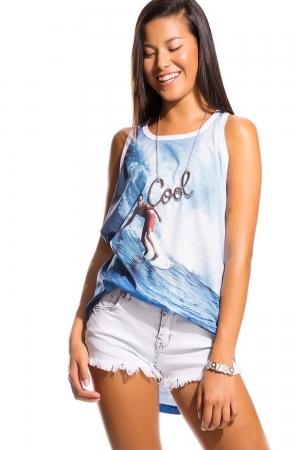 Camiseta con estampado foto surf